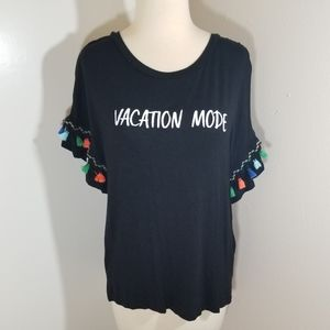 {Charming Charlie} Vacation Mode Tassle Top